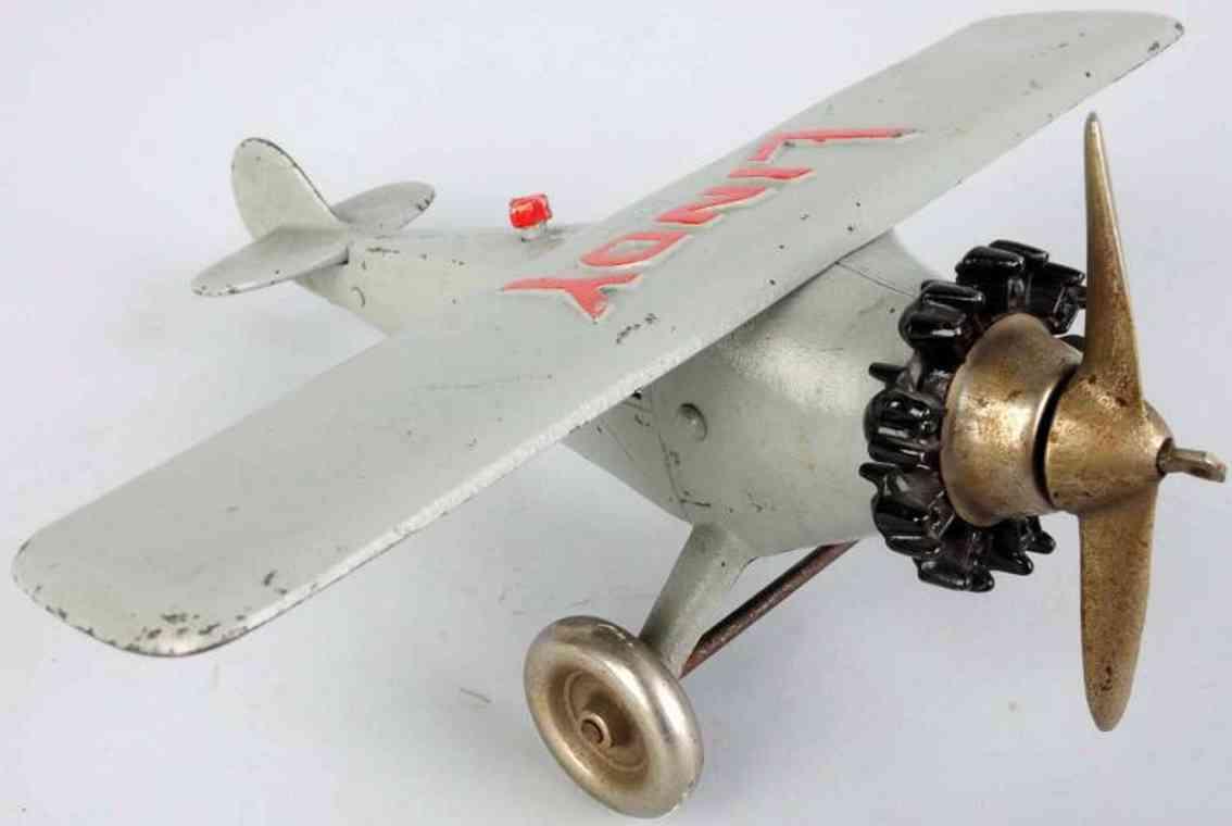 hubley spielzeug gusseisen lindy flugzeug