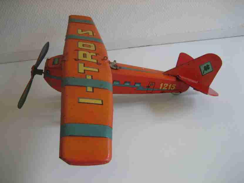 ingap 1215 blech spielzeug flugzeug mit uhrwerk
