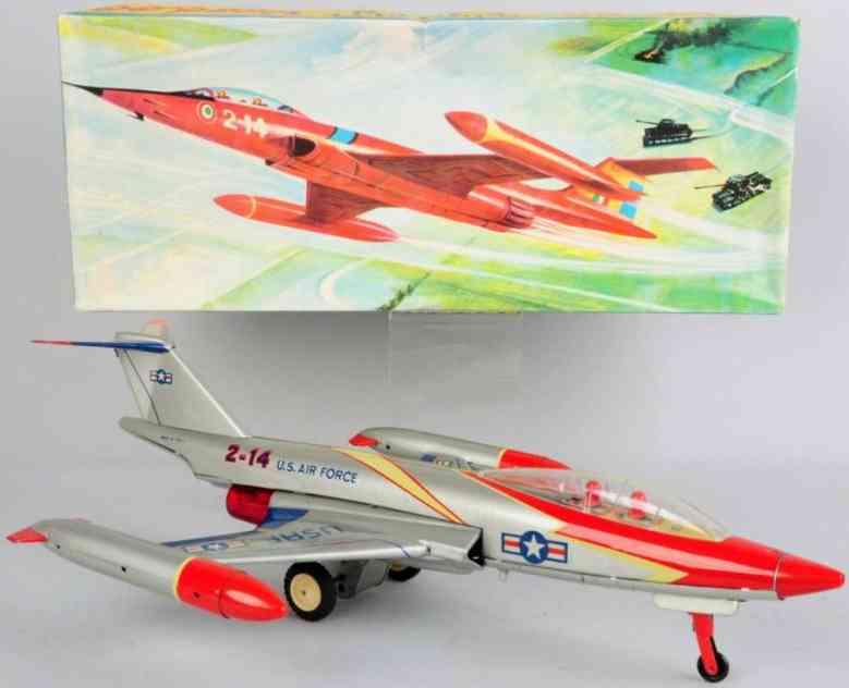 ingap 2-14 blech spielzeug us air force flugzeug mit friktionsantrieb