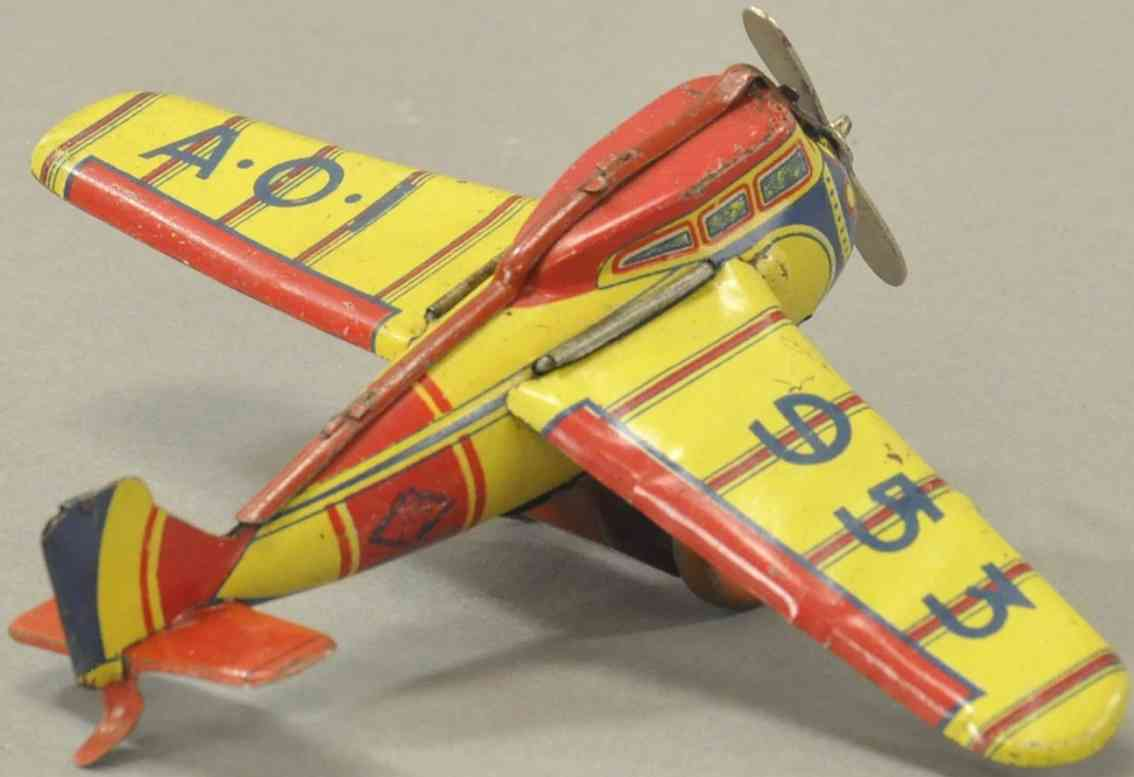 ingap ao 953 blech spielzeug flugzeug klappbare fluegel uhrwerk