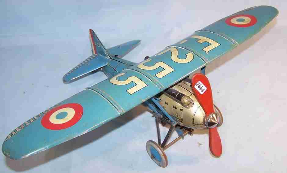 jep tin toy airplane clockwork f-255
