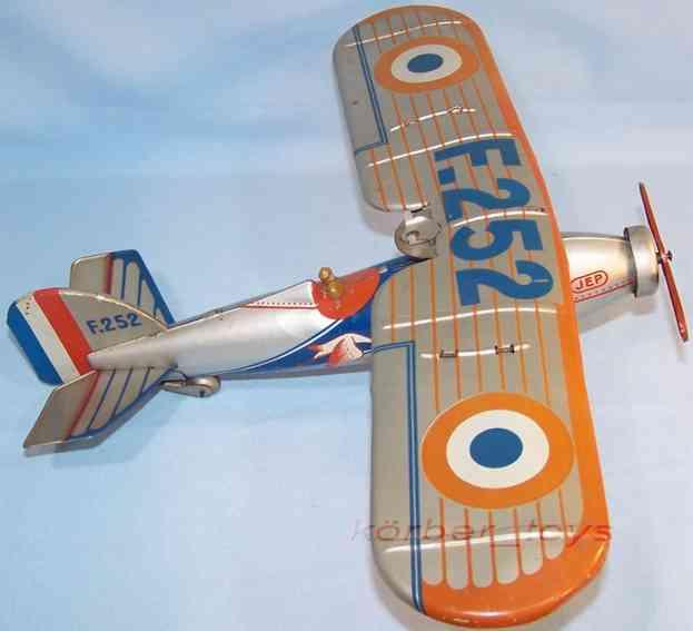 jep f 252 tin toy airplane clockwork
