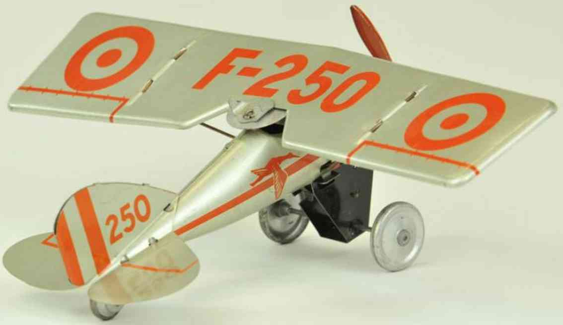 jep tin toy f-250 monoplane clockwork