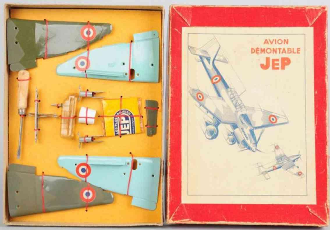 jep dux me109 blech spielzeug zivilflugzeug konstruktions-set