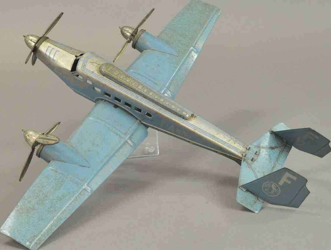 joustra f-anny blech spielzeug dreimotoriges flugzeug air france