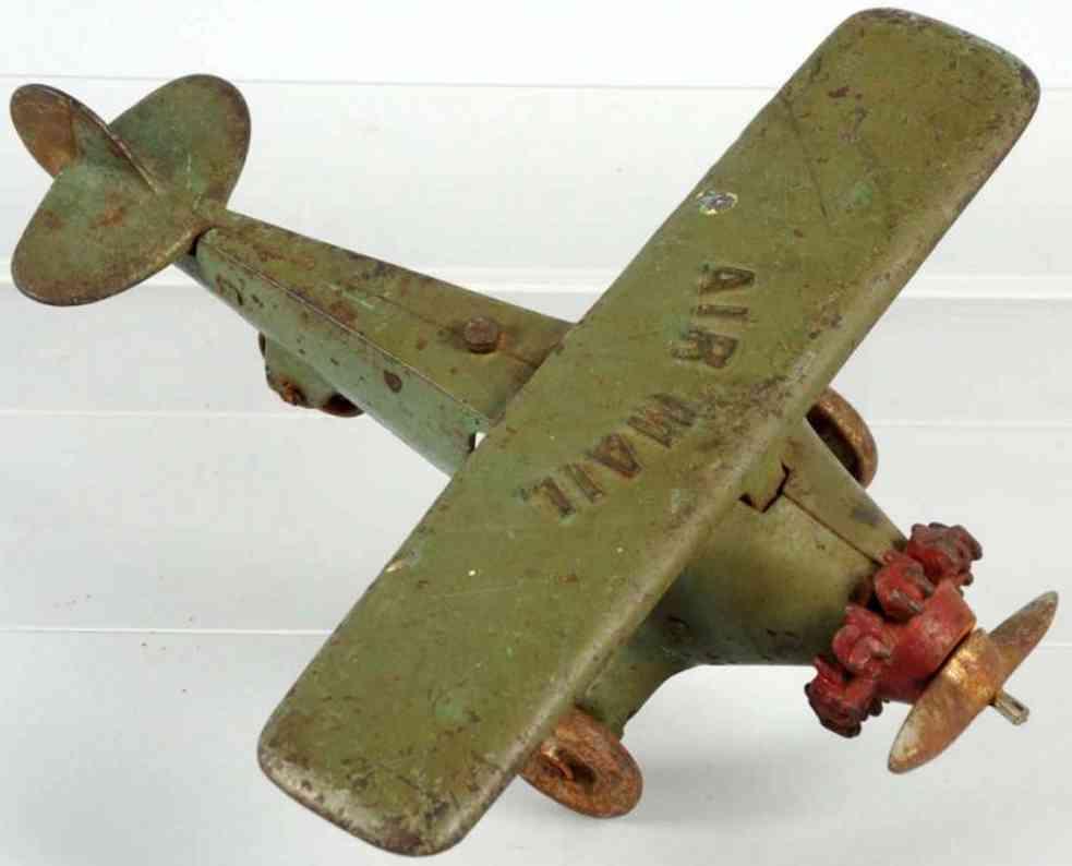 kenton hardware co spielzeug gusseisen luftpost flugzeug
