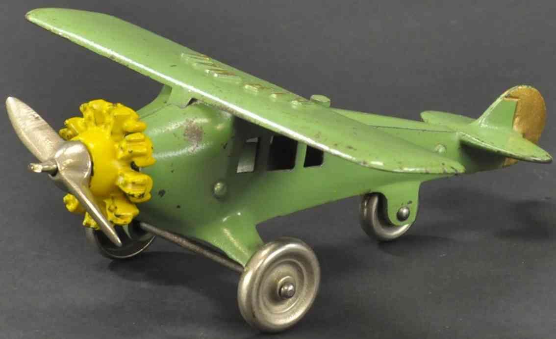 kenton hardware co spielzeug gusseisen luftpost flugzeug gruen