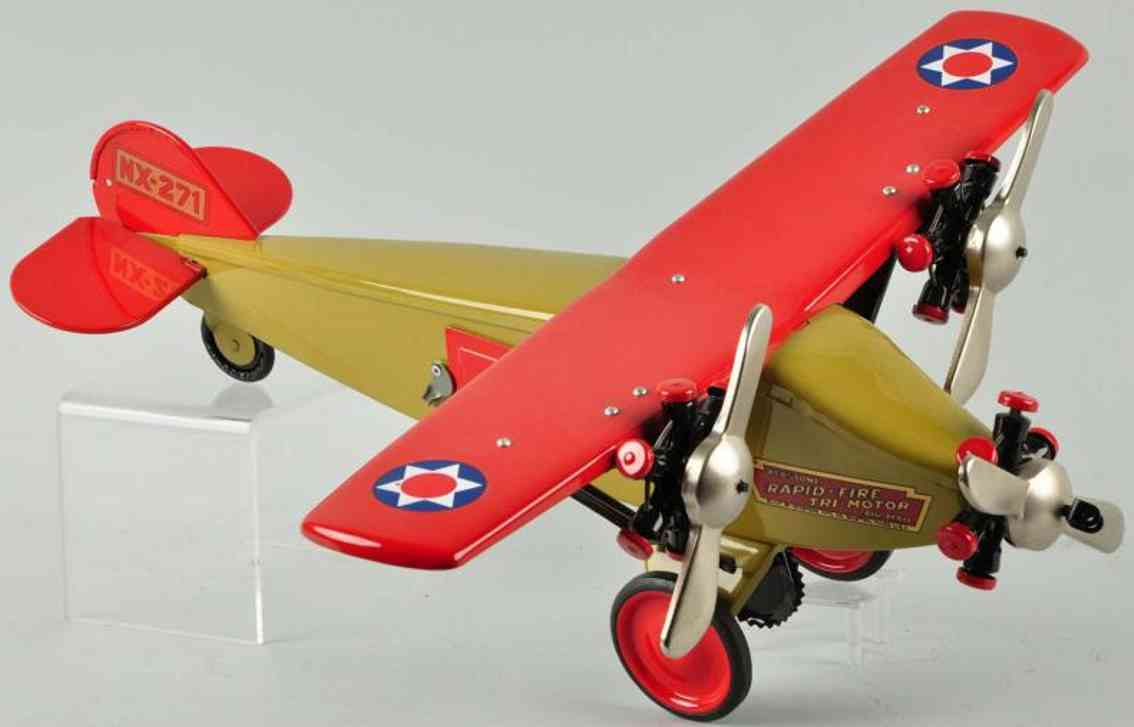keystone nx-271 stahlblech schnellfeuer motorflugzeug