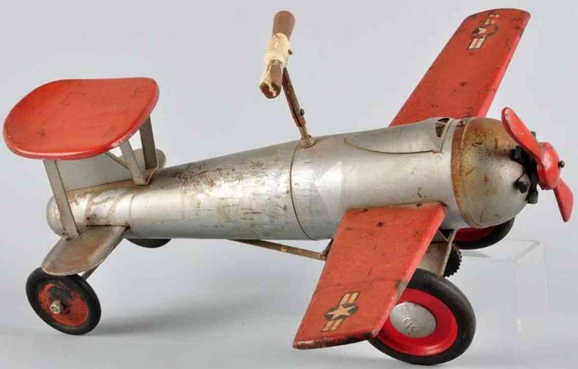 keystone pressed steel toy ride'em fighter plane