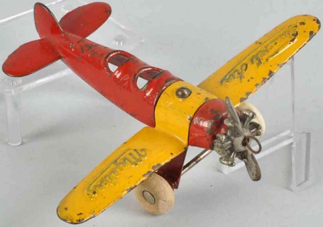 Kilgore Flugzeug aus Gusseisen Travel Air Mystery