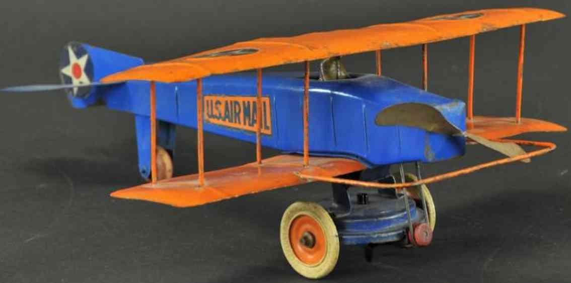 kingsbury toys blech luftpostflugzeug zweifluegelig