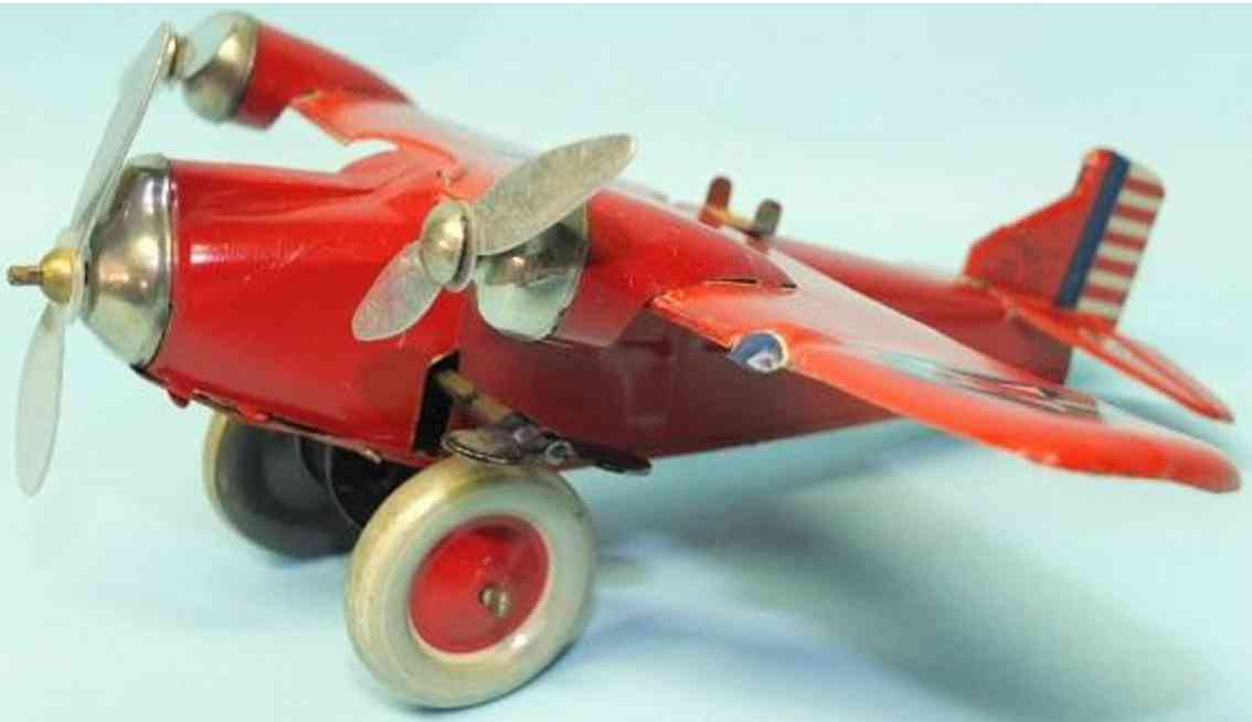 kuramochi douglas tin windup toy tri motor airplane
