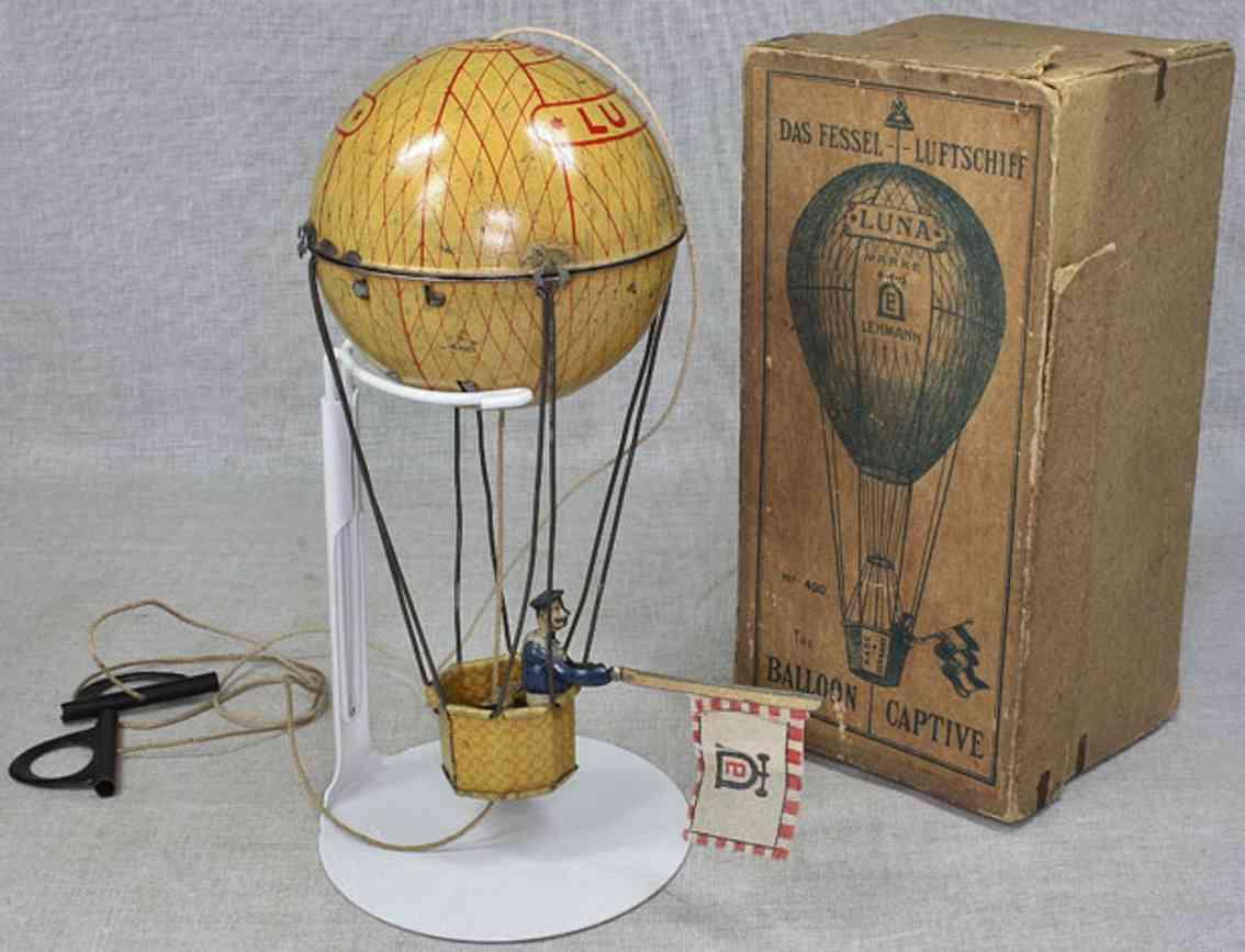 lehmann 400 blech spielzeug fesselballon mars luna