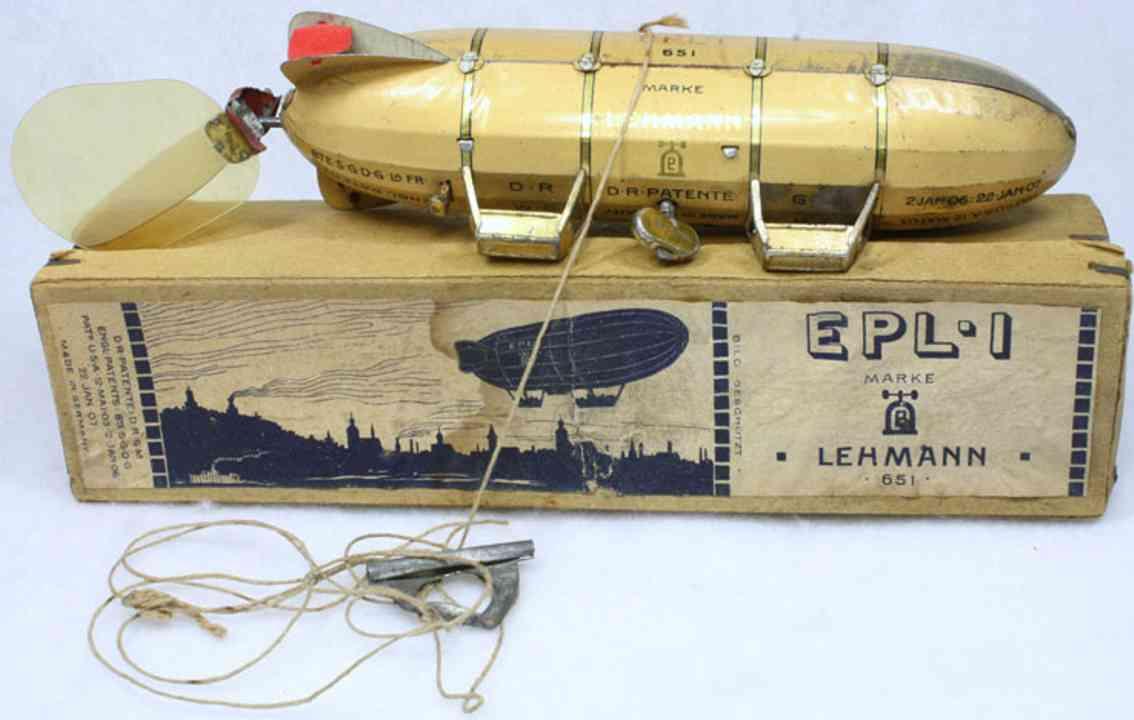 lehmann 651 tin toy zeppelin airship epl1 2 gondolas