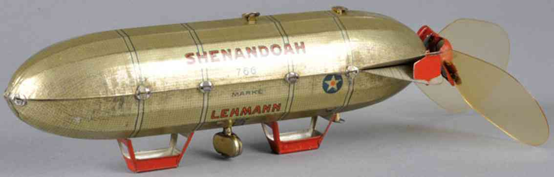 lehmann 766 tin toy wind-up shenandoah zeppelin
