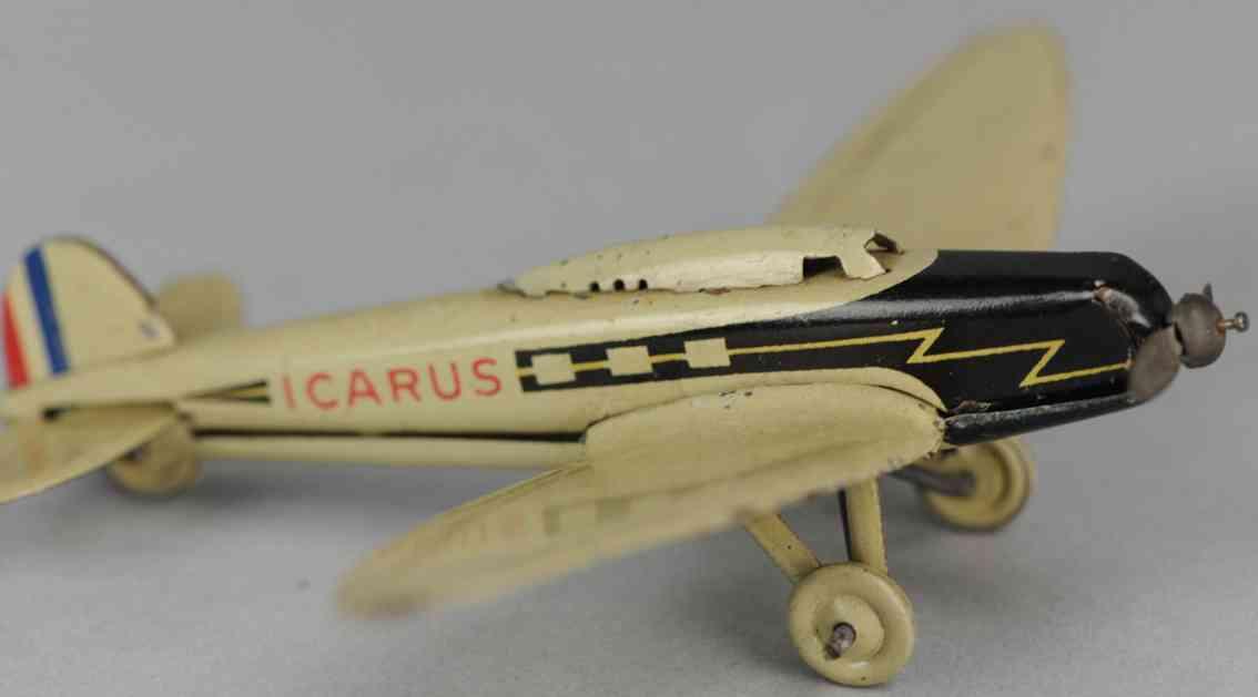 lehmann 818 blech spielzeug he 70 verkehrsflugzeug gnom-serie icarus