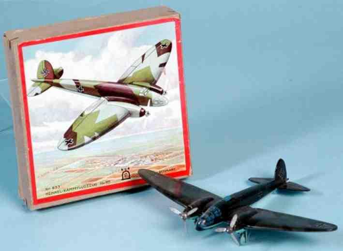 lehmann 833 833b tin toy airplane twin engines