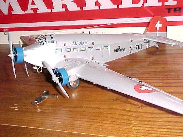 marklin 19801 tin toy airplane junkers-52 swiss army