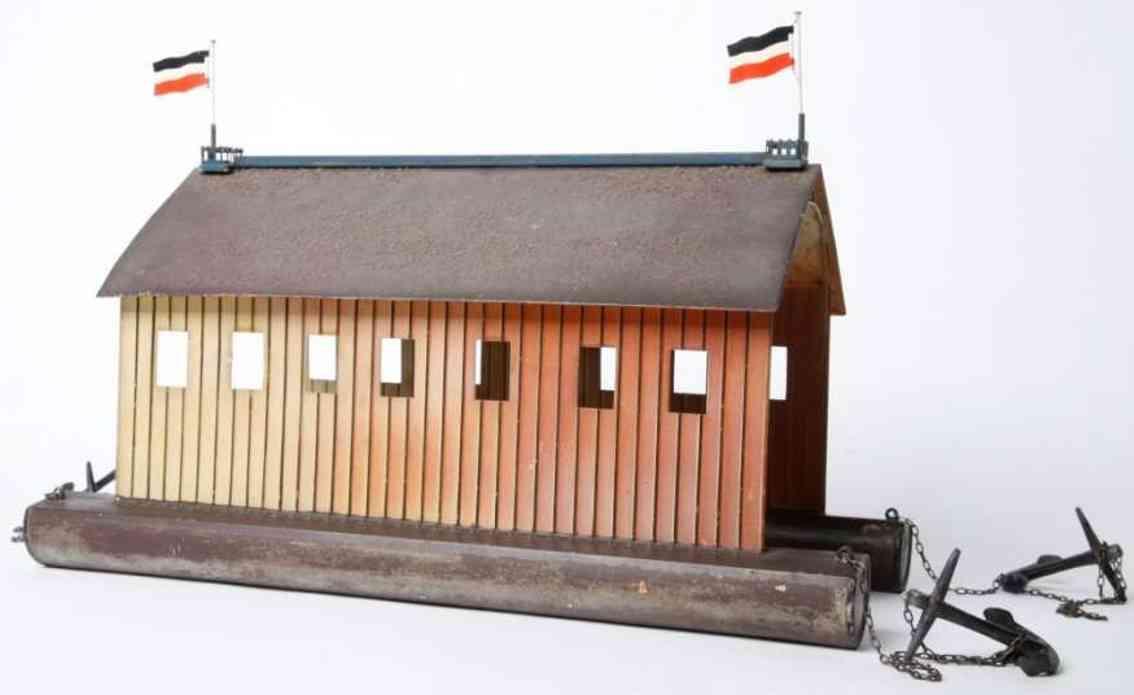 marklin maerklin 5430/4 tin toy airplane airshiop hangar