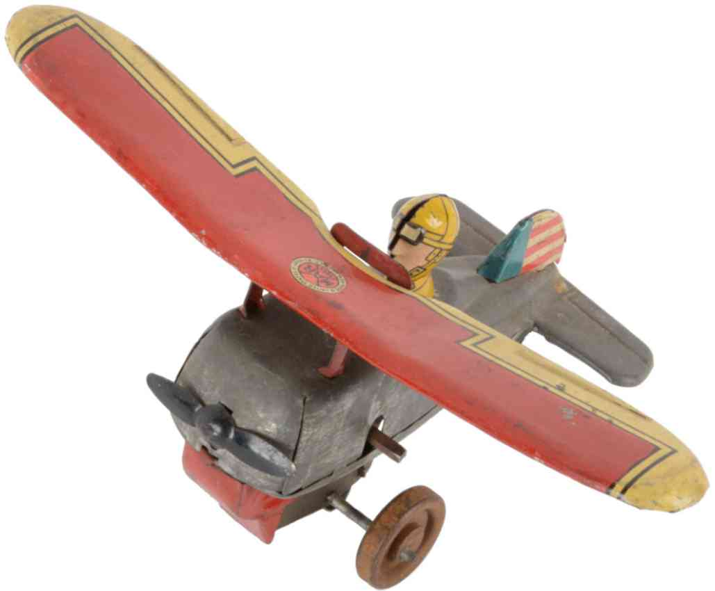 marx louis 728 Prototype tin toy airplane girards warehouse