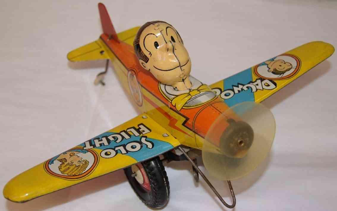 marx louis tin toy dagwood blondie airplane