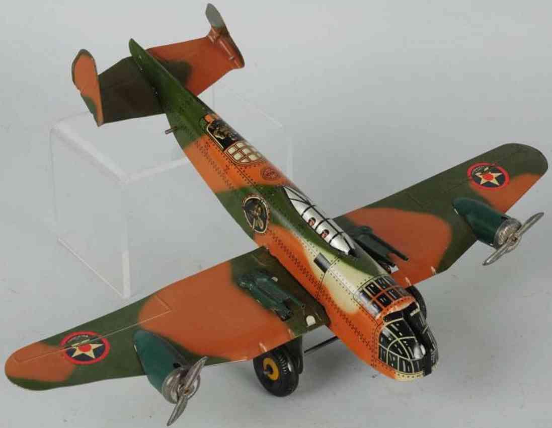 marx louis blech spielzeug militaer tarnflugzeug
