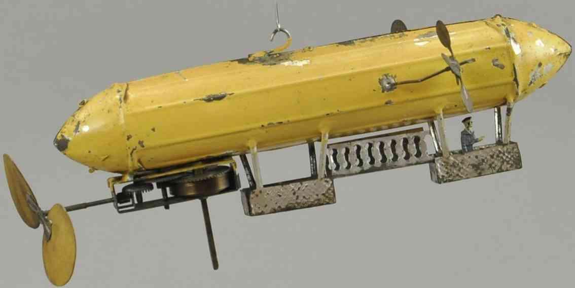 mueller & kadeder blech spielzeug flugzeug zeppelin luftschiff