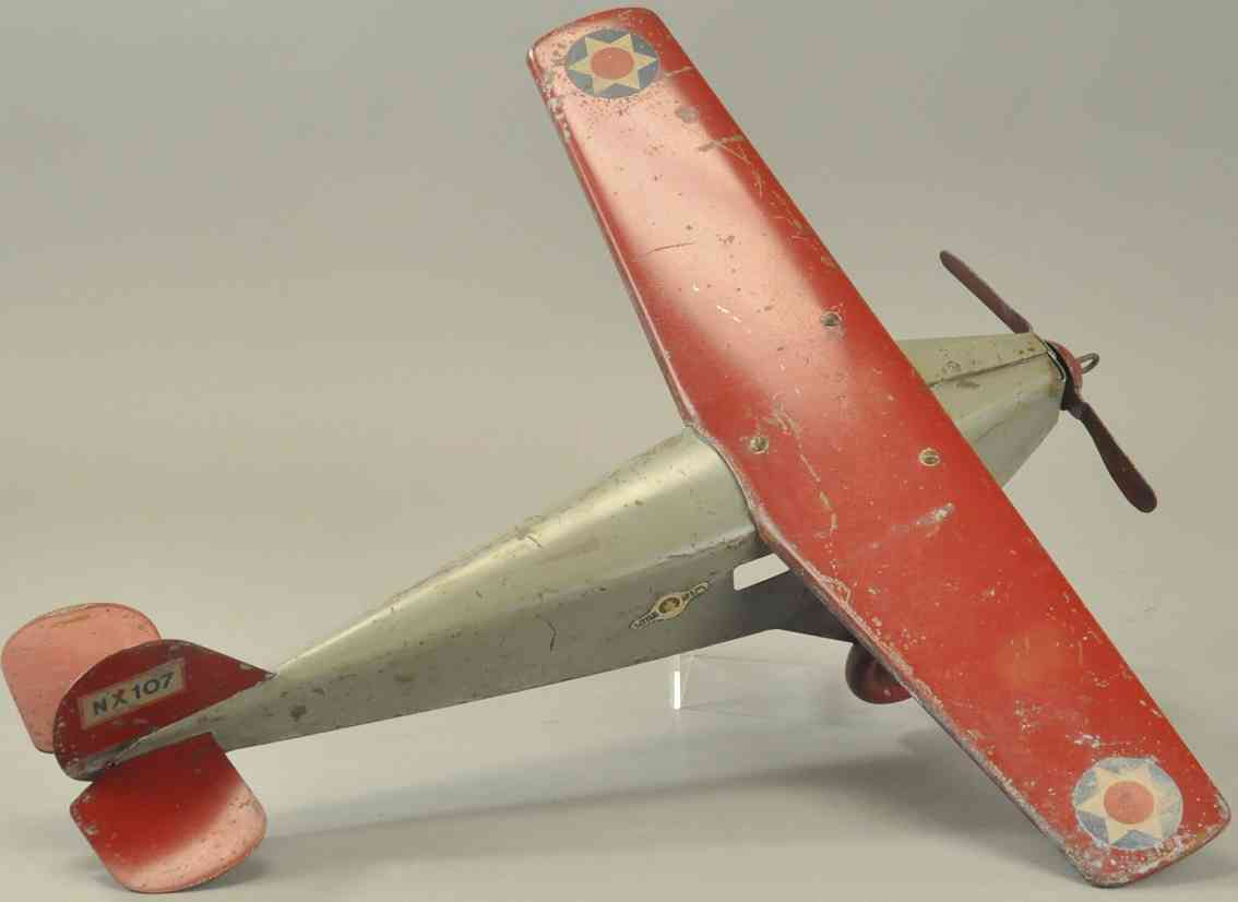 murray nx107 pressed steel toy little jim mono-coupe airplane