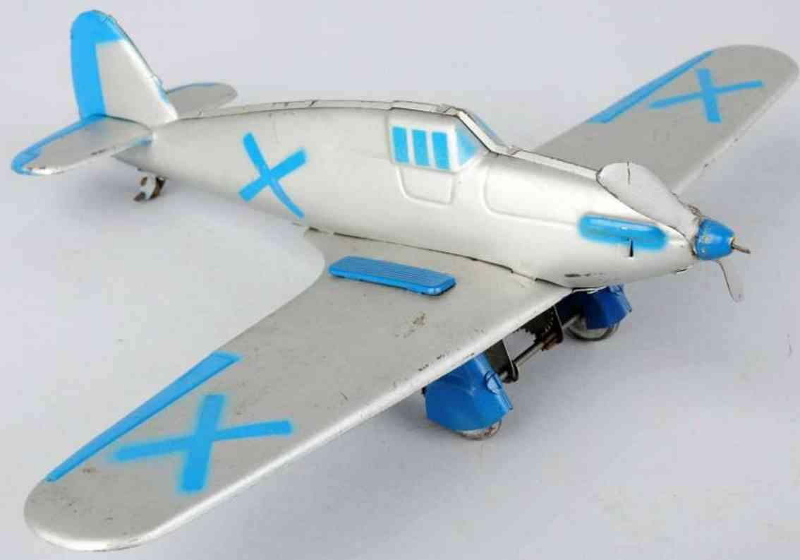 rico X blech spielzeug hurricane flugzeug mit uhrwerk