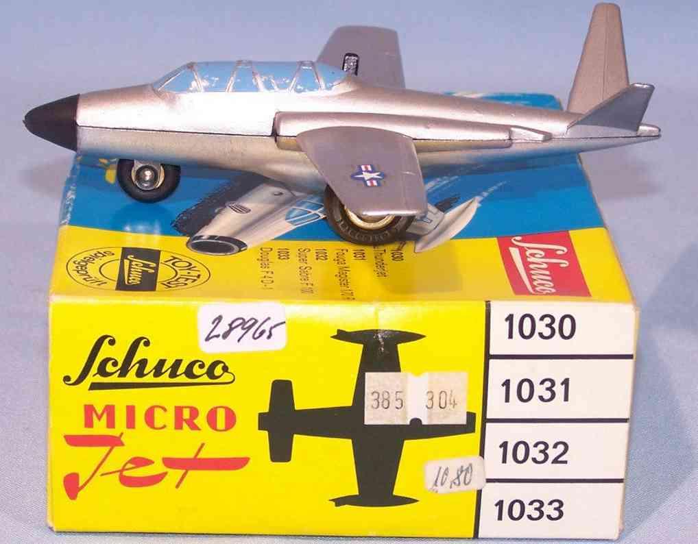 schuco 1031 blech spielzeug micro jet magister 170r silber
