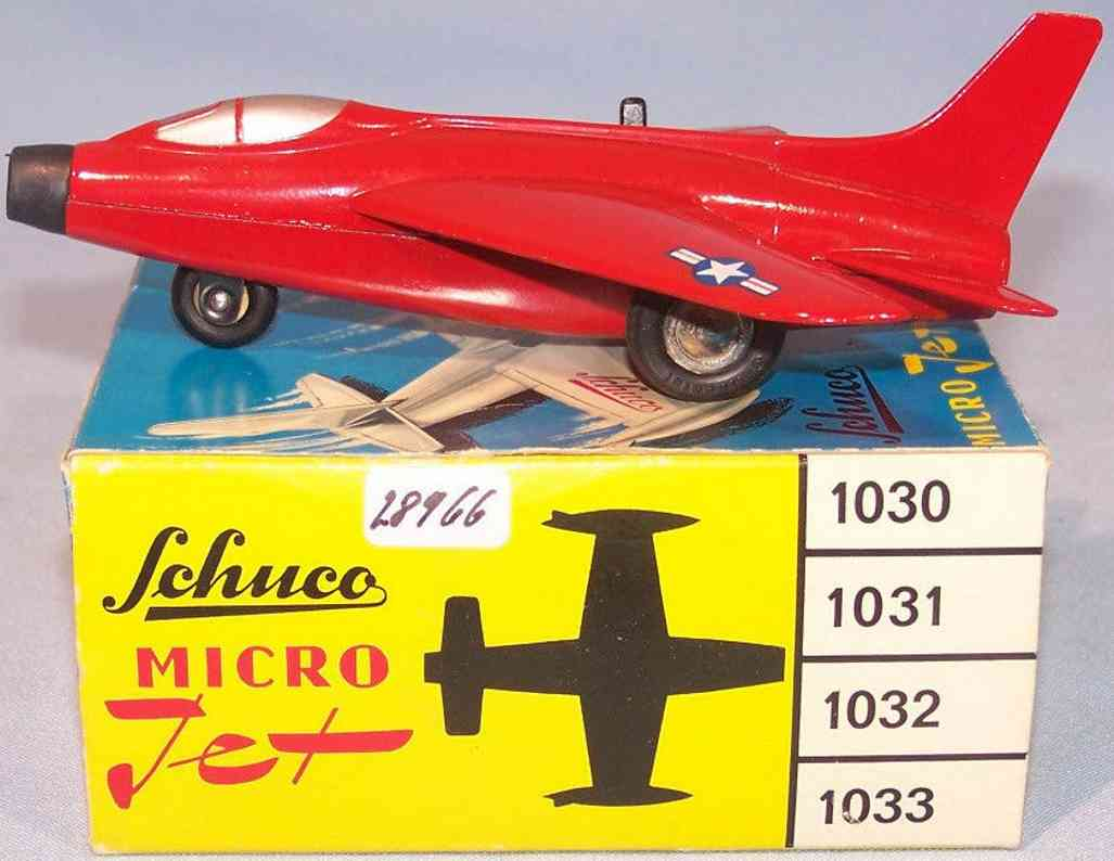 schuco 1032 blech spielzeug micro jet super sabre f100  rot