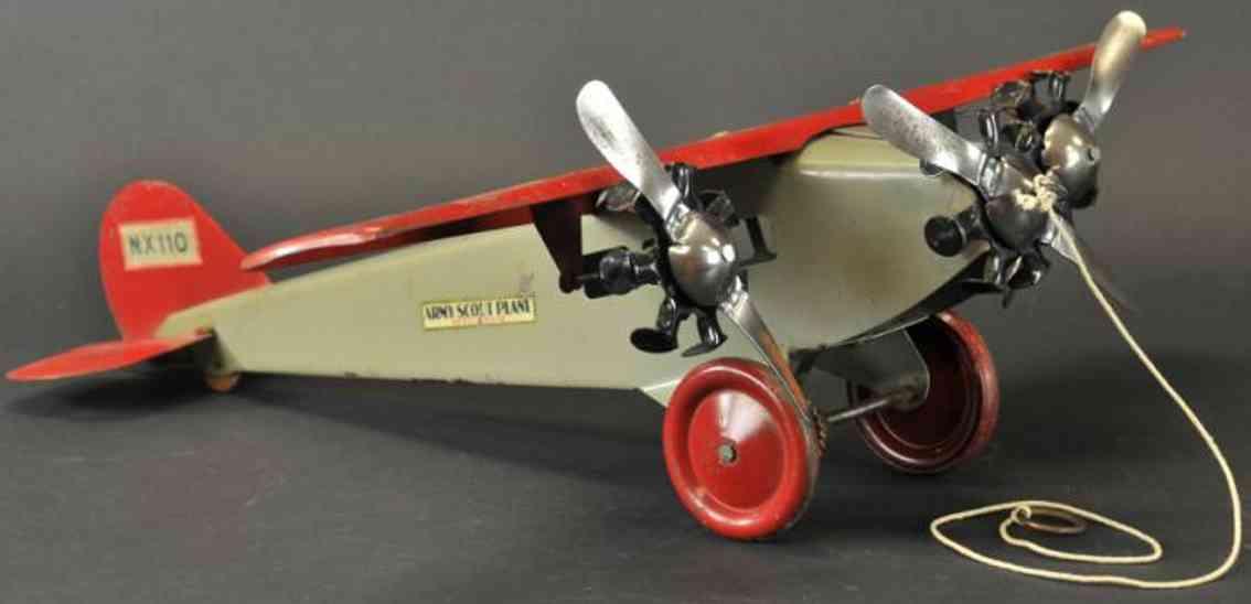 steelcraft stahlblech spielzeug armee kundschafterflugzeug nx110