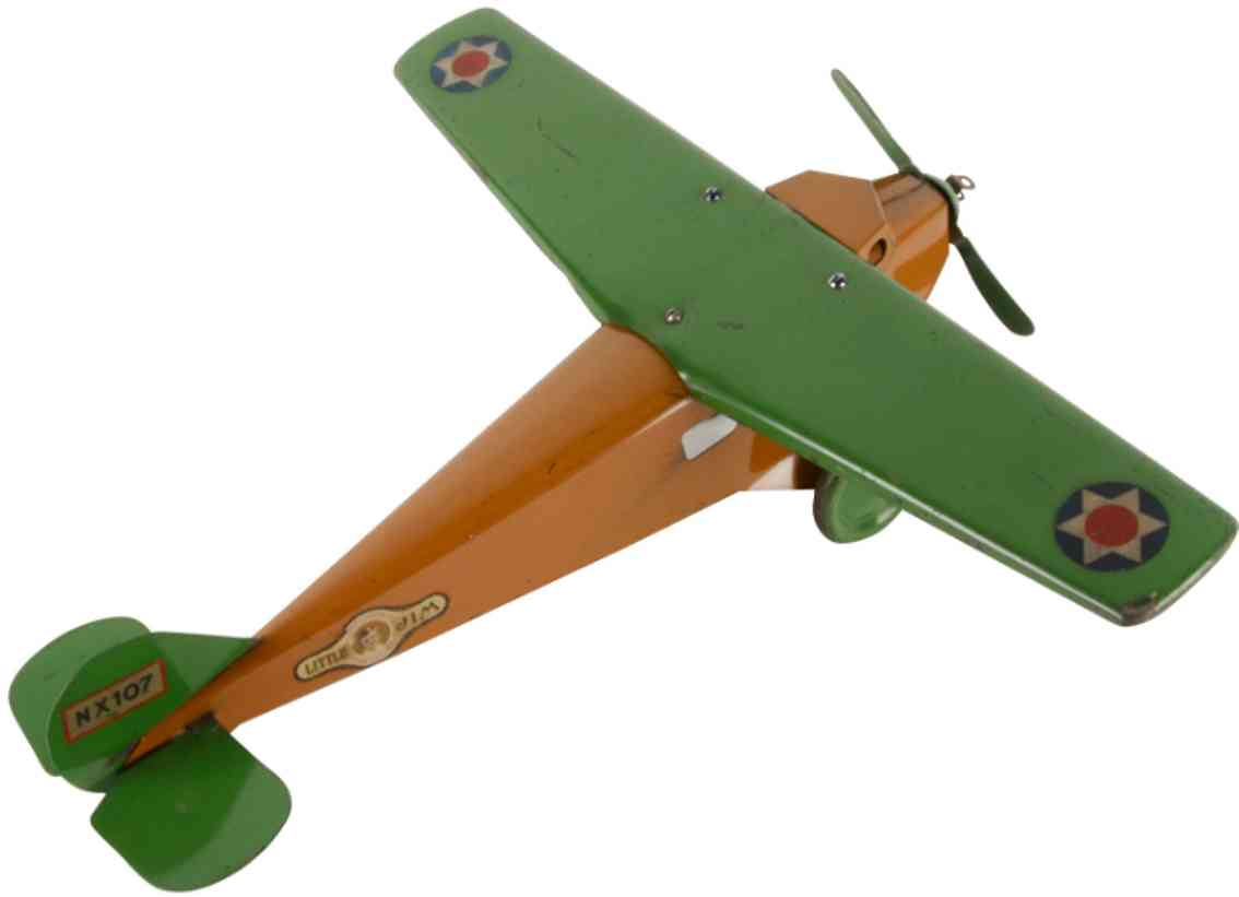 steelcraft pressed steel toy airplane little jim airplane nx107 little jim
