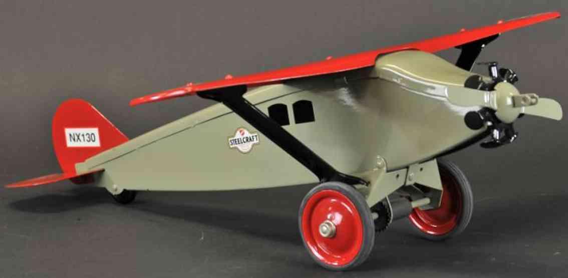 steelcraft stahlblech spielzeug flugzeug nx130