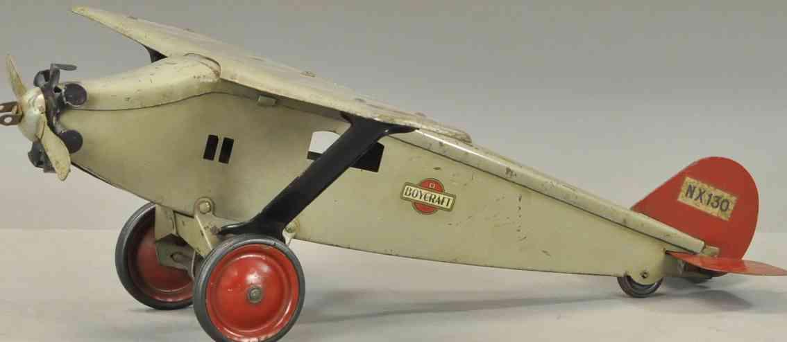steelcraft stahlblech spielzeug flugzeug nx130 boycraft