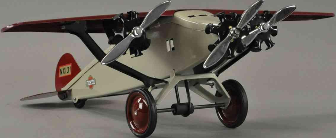steelcraft nx131 blech spielzeug boycraft flugzeug mit drei propeller
