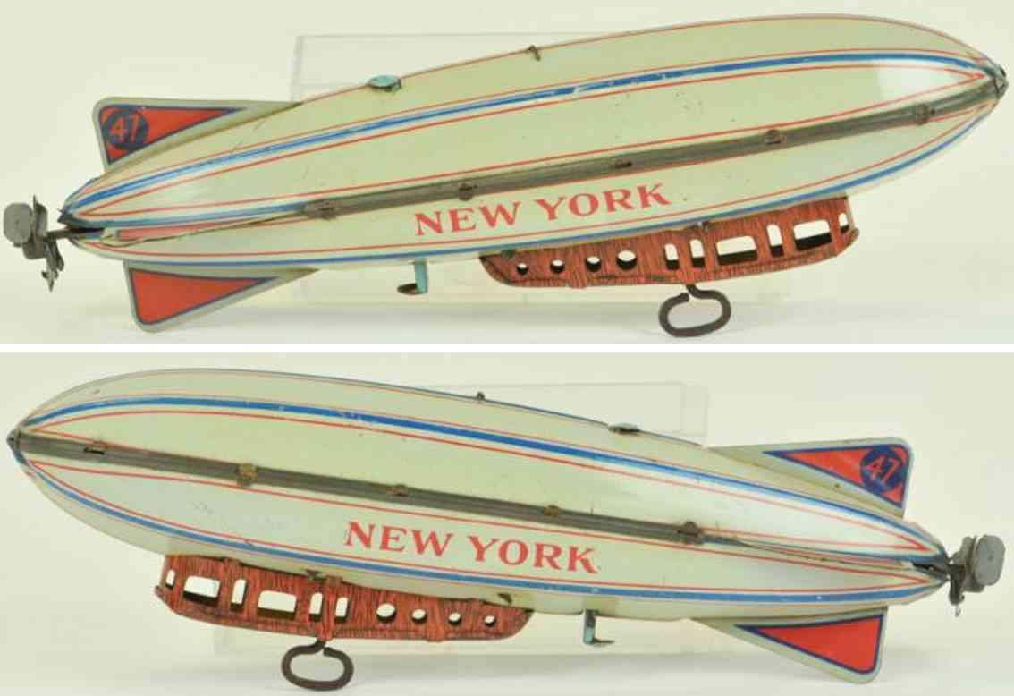 strauss blech spielzeug zeppelin new york