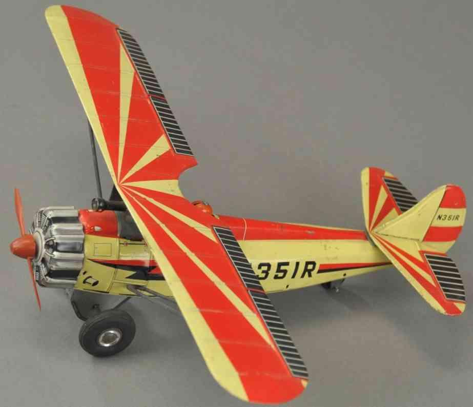 suzuki & edwards tin toy fighter monoplane n351r