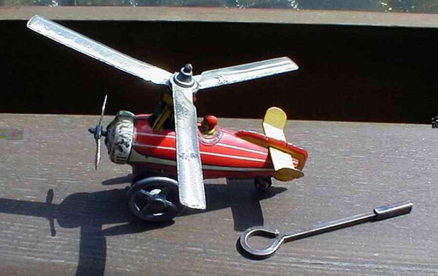 technofix 231 blech spielzeug windmuehlenflieger uhrwerk