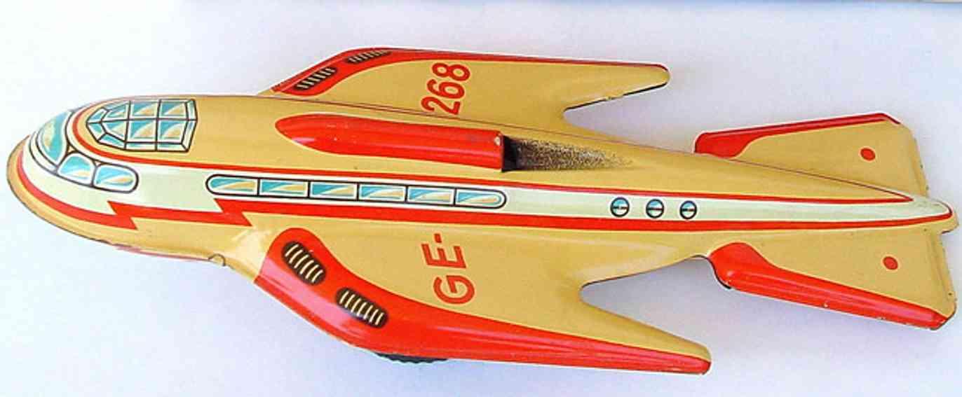 technofix 268 blech spielzeug rakete mit uhrwerk