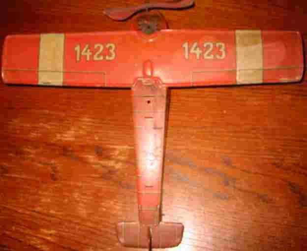 tippco stahlblech spielzeug dreimotoriges junkers flugzeug m uhrwerk 1423 rot