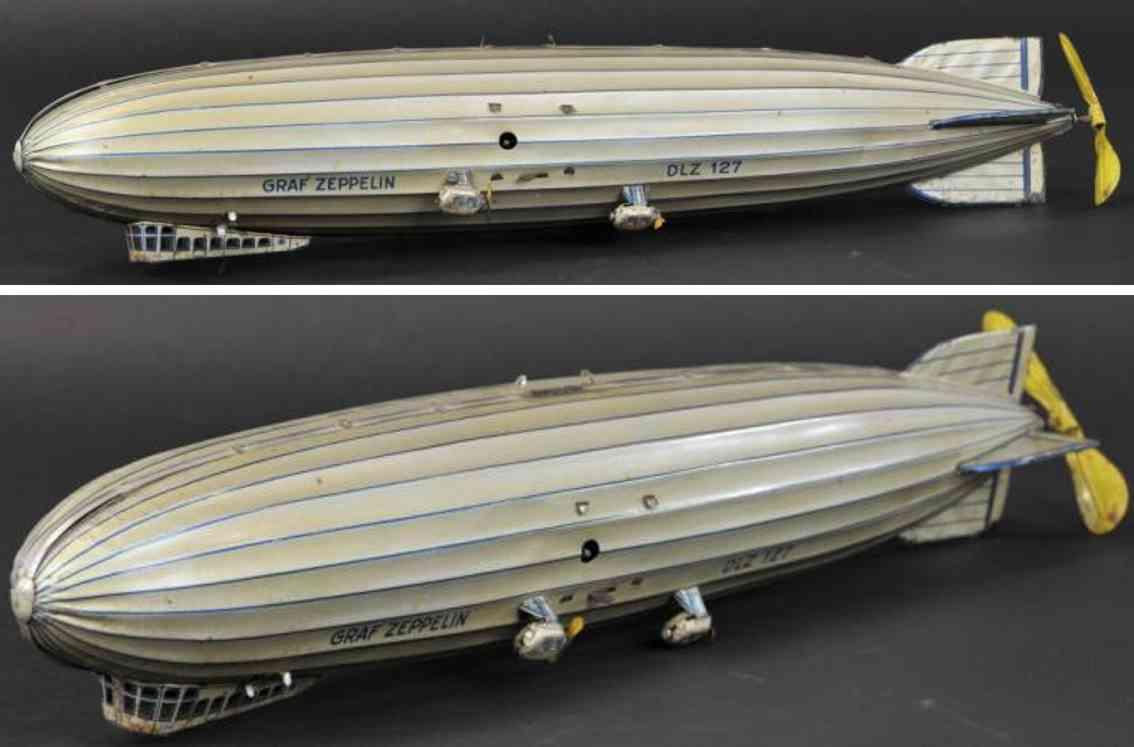 tippco 48 blech spielzeug graf zeppelin dlz 127 uhrwerk