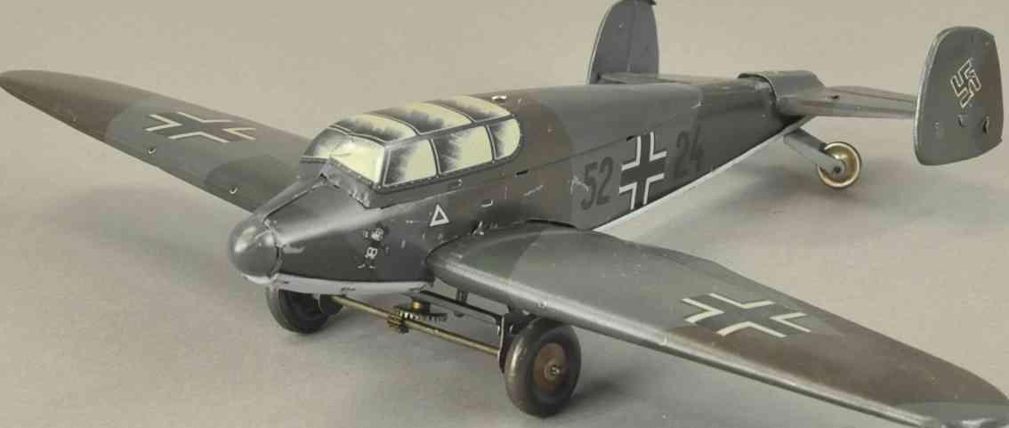 tippco 52 blech spielzeug seibel bomber kampfflugzeug micky maus