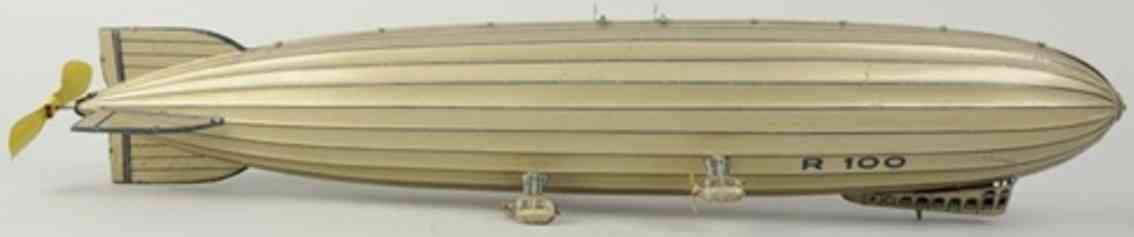 tippco r100 blech spielzeug flugzeug zeppelin mit uhrwerk