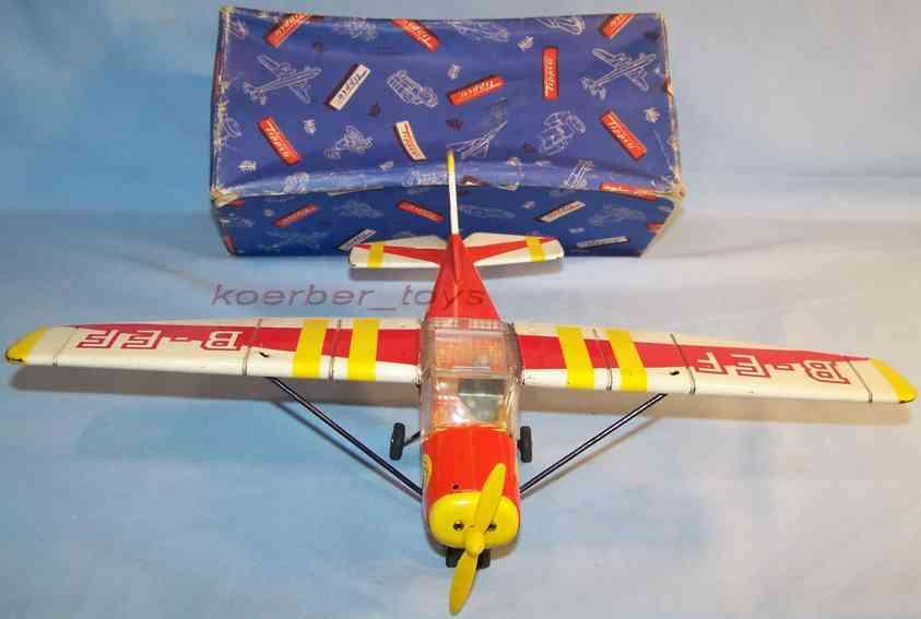 tippco tin toy airplane cesna foxi