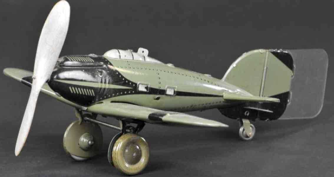 tippco blech spielzeug eindecker militaerflugzeug