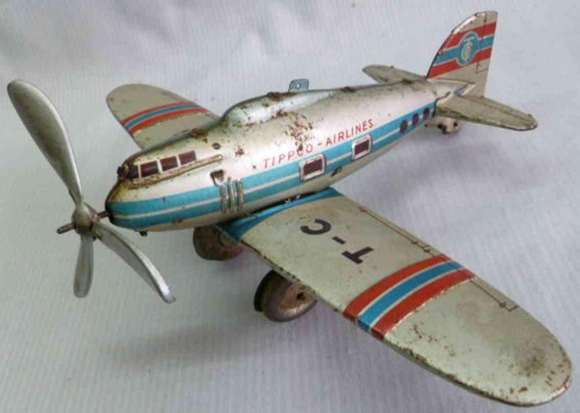tippco TC 55 blech spielzeug einmotoriges flugzeug