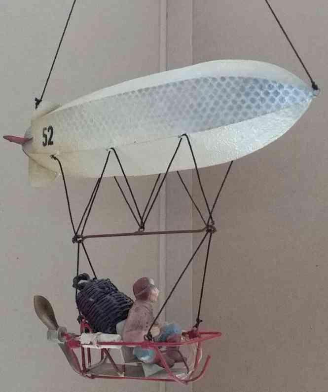blech spielzeug zeppelin an schnur