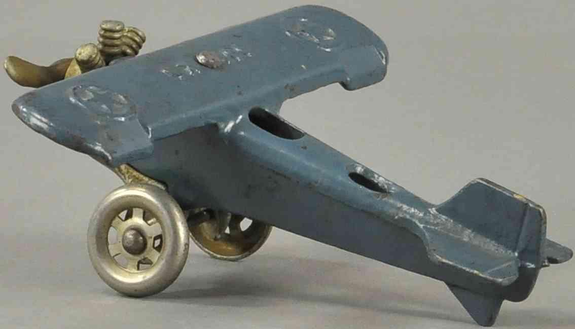 williams ac ux-166 spielzeug gusseisen flugzeug blau