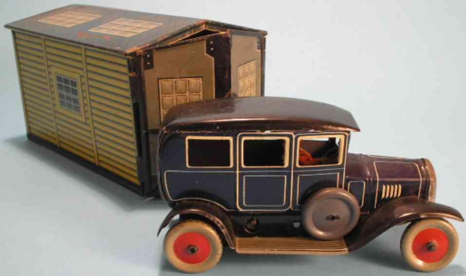 bing blech spielzeug garage mit limousine